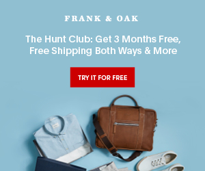 Frank and Oak Coupons Promo Code